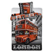 """Pościel z bawełny """"London"""" 160x200 + 70x80"""