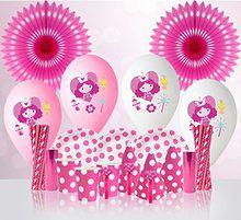 Zestaw imprezowy dla dziewczynki (różowy)