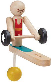 Drewniany akrobata - podnoszenie ciężarów - ZAPŁAĆ 15 ZŁ MNIEJ Z MASTERPASS