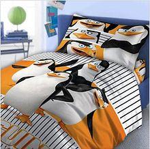 """Pościel bawełniana """"Pingwiny z Madagaskaru II"""" 160x200 + 70x80 cm"""