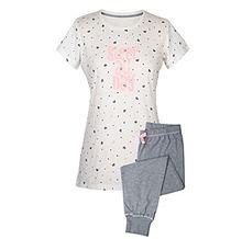 """Piżama damska """"Sleep all day"""", spodnie 3/4, krótki rękaw, L"""