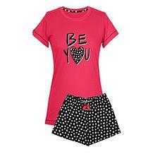 """Piżama damska """"Be You"""", krótkie spodenki, krótki rękaw, S"""