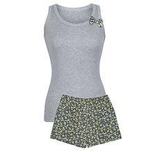 """Piżama damska """"Grey"""", krótkie spodenki, szerokie ramiączka, L"""