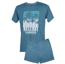 """Piżama męska """"Miami Summer"""" krótkie spodnie, krótki rękaw, XXL - ZAPŁAĆ 15 ZŁ MNIEJ Z MASTERPASS"""