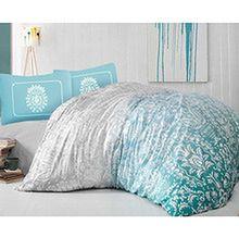 """Pościel z satyny bawełnianej """"Vision Turquoise"""" 160x200 + 2x70x80"""