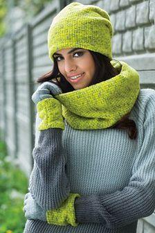 Damskie rękawiczki Cornelia zielone