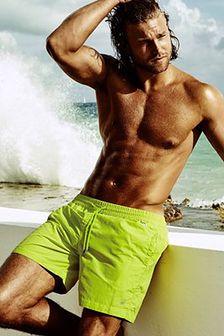 Męskie szorty kąpielowe DAVID 52 Edgar Lime