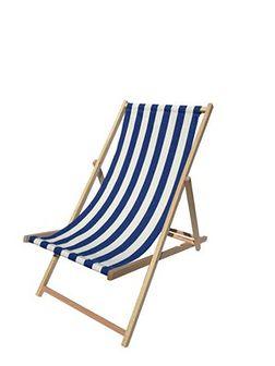 Krzesło Leżak KABEX Bahama Granatowe Pasy