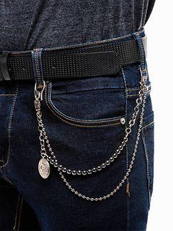 Łańcuszek do spodni A249 - srebrny