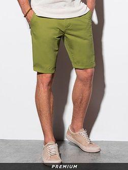 Krótkie spodenki męskie casual W243 - zielone