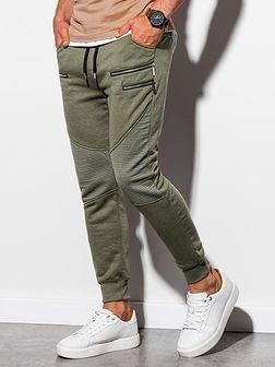 Spodnie męskie dresowe P900 - khaki