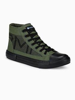 Trampki męskie sneakersy T353 - khaki