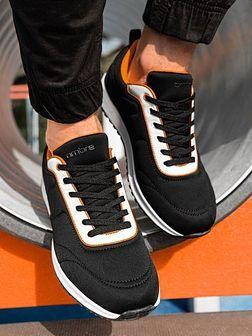 Buty męskie sneakersy T360 - czarne