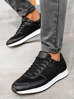 Buty męskie sneakersy T361 - czarne