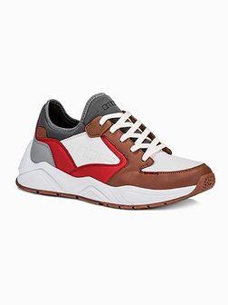 Buty męskie sneakersy T363 - brązowe