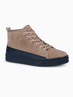 Buty męskie sneakersy T362 - beżowe