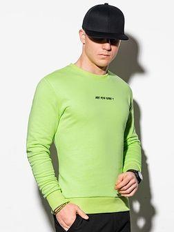 Bluza męska bez kaptura z nadrukiem B1215 - zielona