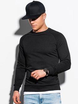 Bluza męska bez kaptura B1217 - czarna