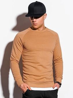Bluza męska bez kaptura B1217 - beżowa