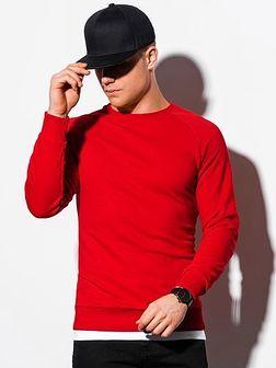 Bluza męska bez kaptura B1217 - czerwona