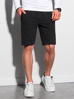 Krótkie spodenki męskie dresowe W291 - czarne