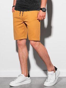 Krótkie spodenki męskie dresowe W291 - żółte
