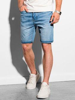 Krótkie spodenki męskie jeansowe W310 - jasny jeans