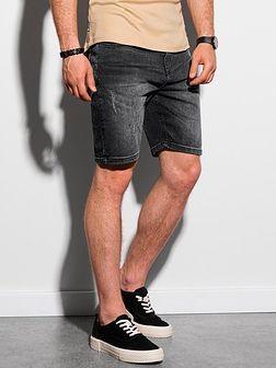 Krótkie spodenki męskie jeansowe W307 - czarne