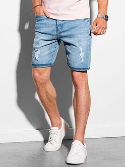 Krótkie spodenki męskie jeansowe W311 - jasny jeans
