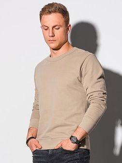 Bluza męska bez kaptura bawełniana B1146 - beżowa
