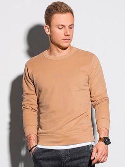 Bluza męska bez kaptura bawełniana B1146 - jasnobrązowa