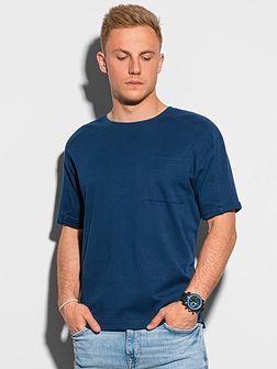 T-shirt męski bawełniany S1386 - granatowy