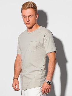 T-shirt męski bawełniany S1384 - szary