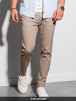 Spodnie męskie chino P894 - beżowe