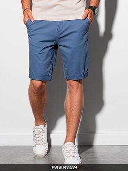 Krótkie spodenki męskie casual W243 - niebieskie