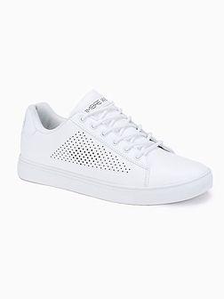Klasyczne męskie buty sportowe T383 - białe