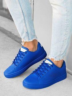 Klasyczne męskie buty sportowe T383 - niebieskie