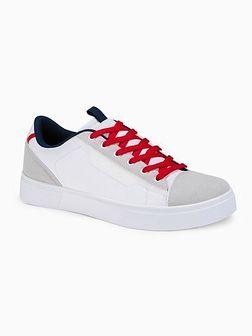 Klasyczne męskie buty sportowe T366 - białe