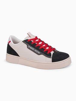 Klasyczne męskie buty sportowe T366 - beżowe