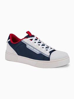 Klasyczne męskie buty sportowe T366 - ciemnoniebieskie