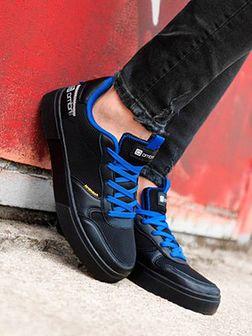 Buty męskie sneakersy T367 - czarne