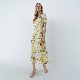 Mohito - Sukienka z odkrytymi plecami - Żółty