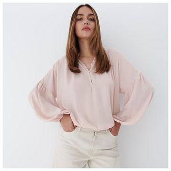 Mohito - Bluzka z guzikami - Różowy