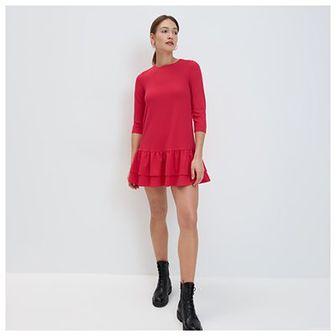 Mohito - Sukienka z falbaną - Czerwony