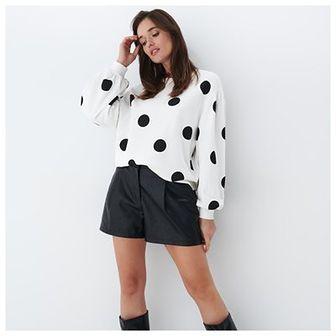 Mohito - Bluza w kropki - Biały