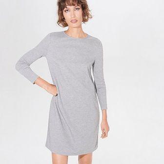 Trapezowa sukienka z wiskozą