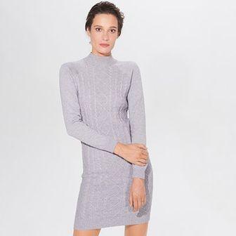 Swetrowa sukienka bodycon