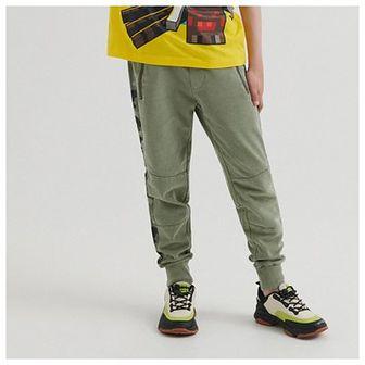 Reserved - Dresowe joggery z lampasem - Zielony