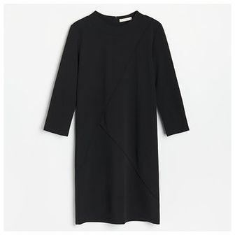 Reserved - Dzianinowa sukienka - Czarny
