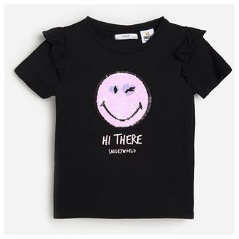 Reserved - Bawełniany t-shirt SmileyWorld® - Czarny